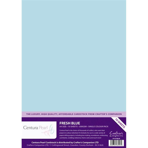 Crafters Companion Centura Pearl Baby  Blue pk of 10