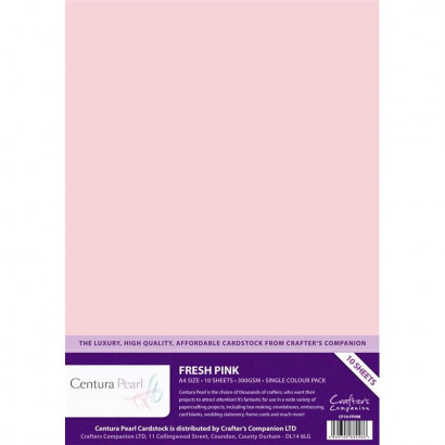 Crafters Companion Centura pearl Fresh Pink pk of 10