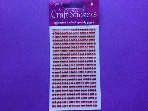 Adhesive Gems Red 3mm  418gems