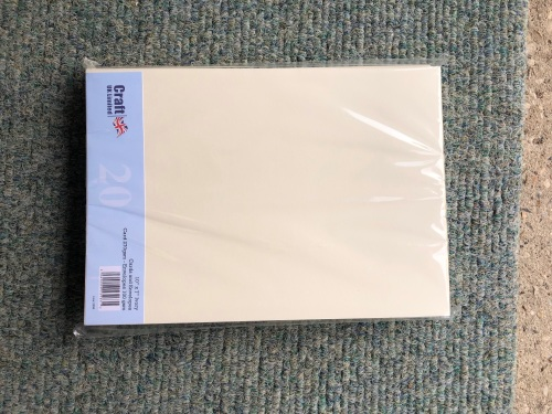 10 x 7 ivory pack of 20