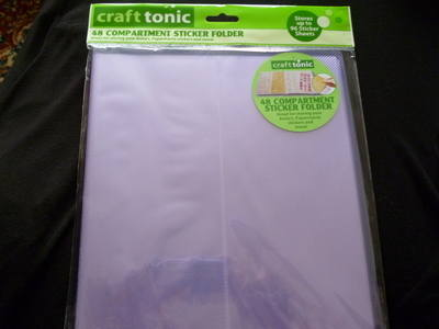 CRAFT TONIC 48 COMPARTMENT STICKER FOLDER PURPLE