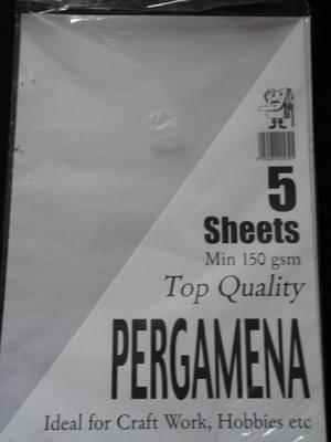 A4 PERGAMENA MIN 150gsm 5 SHEETS.