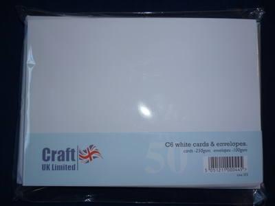 Card & Envelope pks C6 Pk of 50 cards-250gsm, env-100gsm,  line no 273