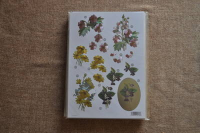 DECOUPAGE FLORAL YELLOW/PINK DAISY 000118