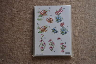 DECOUPAGE FLORAL PINK FLOWERS 000756