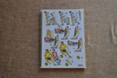 DECOUPAGE FISHING/CRICKET AND FOOTBALL 540