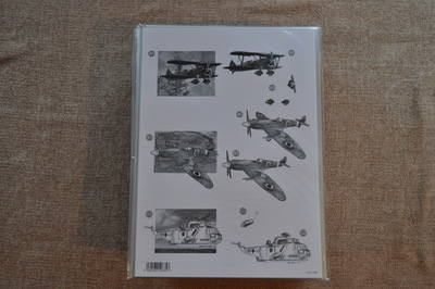 DECOUPAGE WAR  PLANES AND MARINE HELICOPTER 700