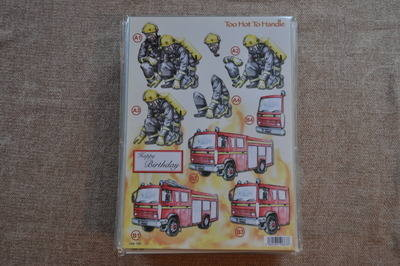 DECOUPAGE FIREMAN/FIRE ENGINE 722