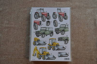 DECOUPAGE MENS TRACTOR/DIGGER 788