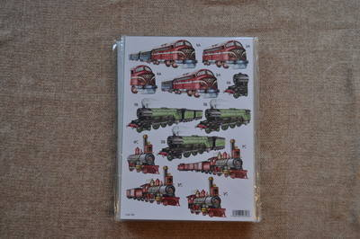 DECOUPAGE MENS STEAM TRAINS 793