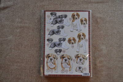 DECOUPAGE DOGS PUPPIES/BULLDOG 618.