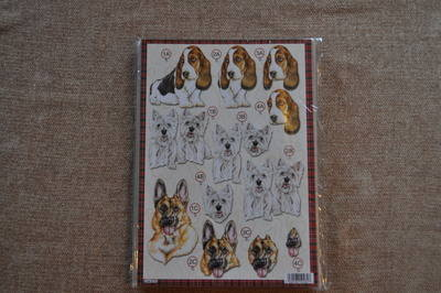 DECOUPAGE DOGS SCOTTIE/ALSATIAN 619.