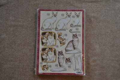 DECOUPAGE CATS IN BASKET 620.