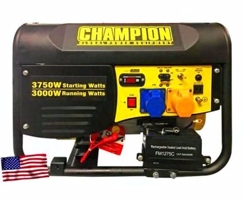 Champion(USA) Key start & Pull Start 3000w Generator