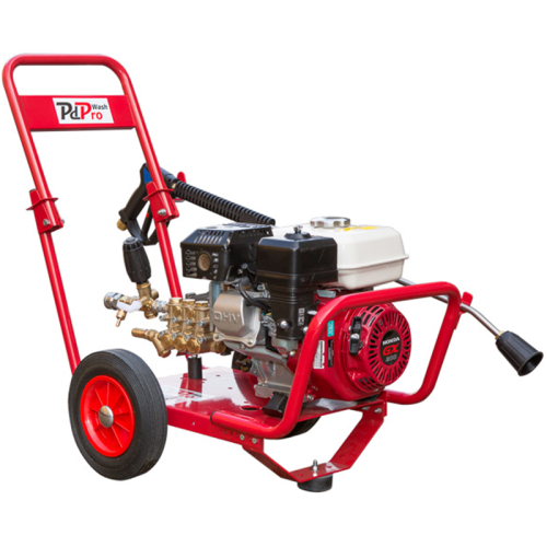 Petrol powered high pressure washer with a Honda GX200 engine