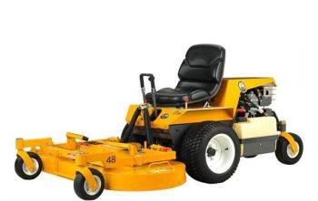 Walker B18 48'' mulching Mower powered by a Briggs and Stratton V-Twin Vanguard 18HP engine