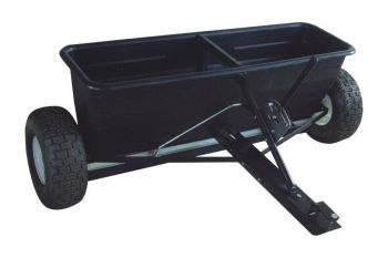 Tow Ride on lawnmower Drop Spreader - perfect for spreading seed, weed killer, fertilizer and road salt