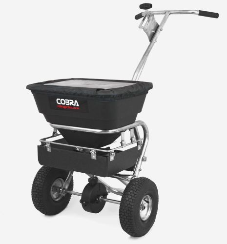 Cobra HS26S Stainless Steel Walk Behind Spreader, 70lb capacity