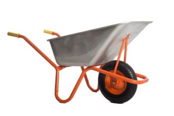 120L Steel Tub Wheelbarrow