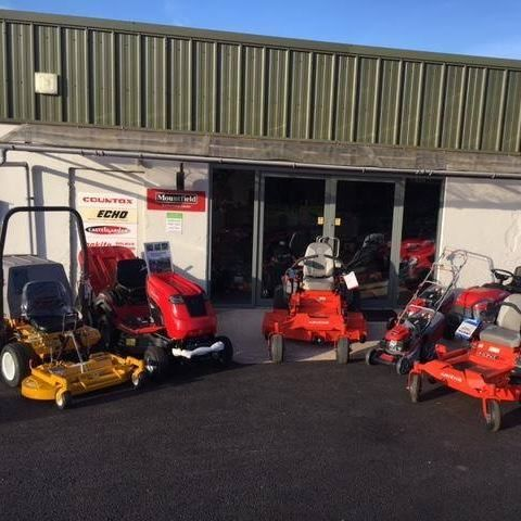 Our lawnmover showroom at Markethill