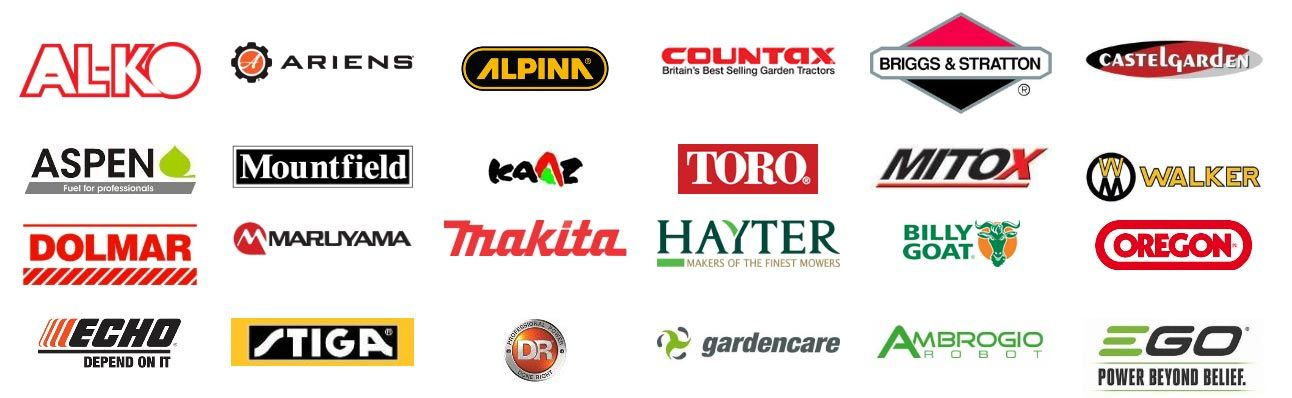 Brands We Stock and Service