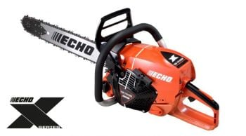 * New Echo CS-7310SX Heavy-duty chainsaw, 28'' Guide bar with a 73.5cc engine, weighs 6.8kgs