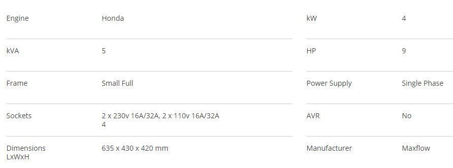 Screenshot 2021-02-13 112550 5kva Generator