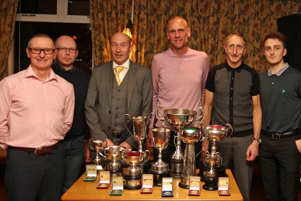 2017 Prize Winners, L to R, Ant McNamara, Ian Ambler, Andy Whitehead, Oliver Potter, Martin Broadhead, Alex Broadhead