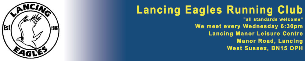 Lancing Eagles Running Club, site logo.
