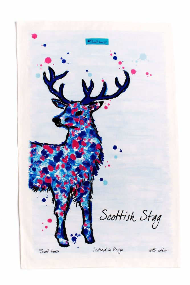 Scott Inness - Stag design Tea towel