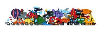 Wooden Jigsaw - Alphabet Transport