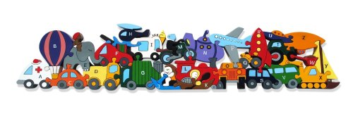 Wooden Jigsaw - Alphabet Transport