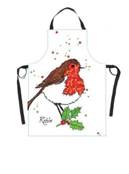 Christmas Robin Cook's Apron
