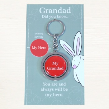 Keyring by Rufus Rabbit - Grandad Hero