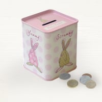 Rufus Rabbit - Baby Girl Money Tin