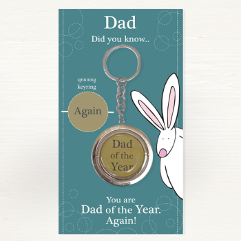 Keyring by Rufus Rabbit - Dad of the Year