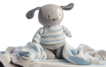 Mimmo Knitted Puppy with Blanket