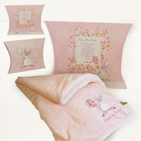 Snuggle Blanket with Packaging from Rufus Rabbit at Lovely Lane Gifts