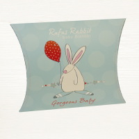 Rufus Rabbit Snuggle Blanket in box from Lovely Lane Gifts