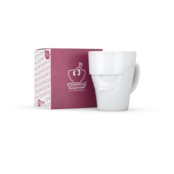 White Porcelain 'Grumpy' Mug