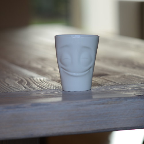 White Porcelain 'Cheery' Mug
