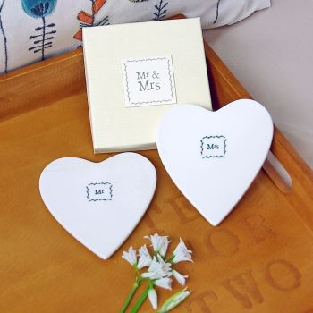 Mr & Mrs Porcelain Coasters