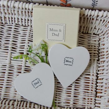Mum & Dad Porcelain Coasters