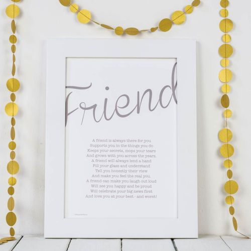 My Friend Poem Print