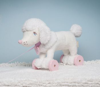 Coco the pull-a-long Poodle