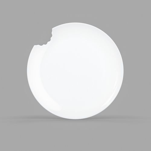 Large White Porcelain Dining Plate