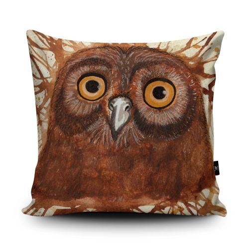 Splatter Owl Cushion