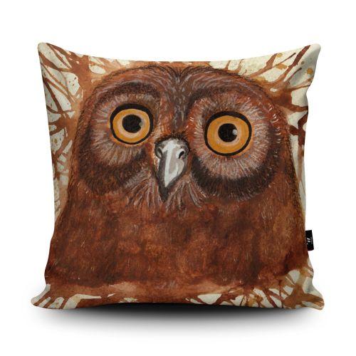 Splatter Owl Cushion