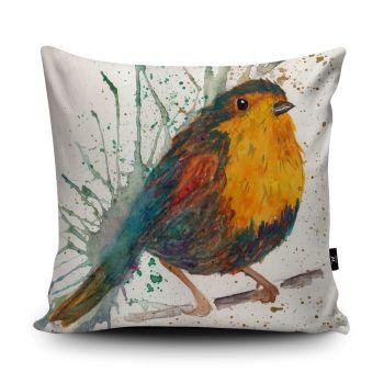 Splatter Robin Cushion