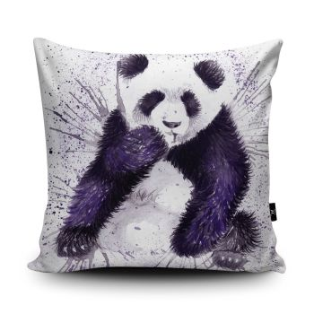 Splatter Panda Cushion